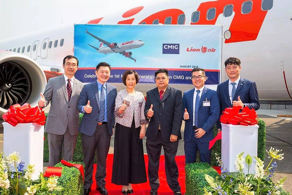 CMIG Aviation Capital delivers the first 737 MAX 8 to Lion Air