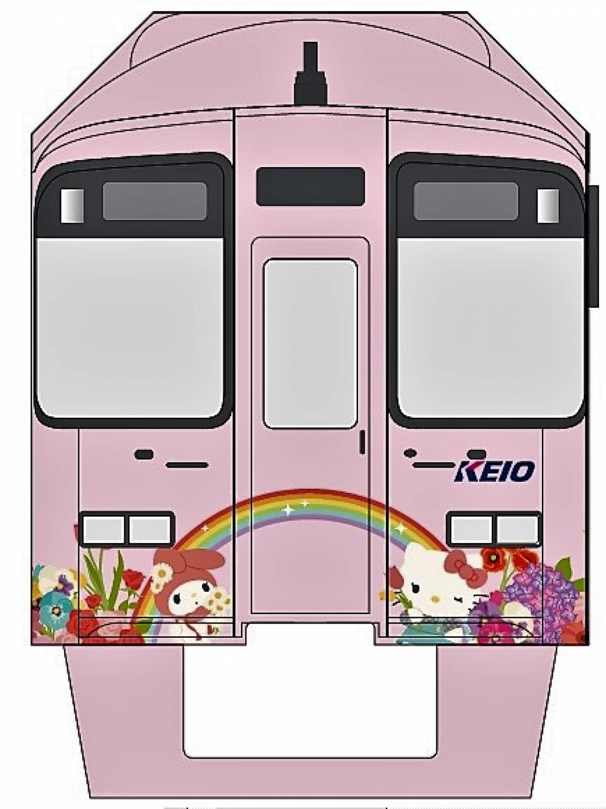Hello Kitty Land Tokyo Unveils First Keio Line Hello Kitty Trains in Time for New