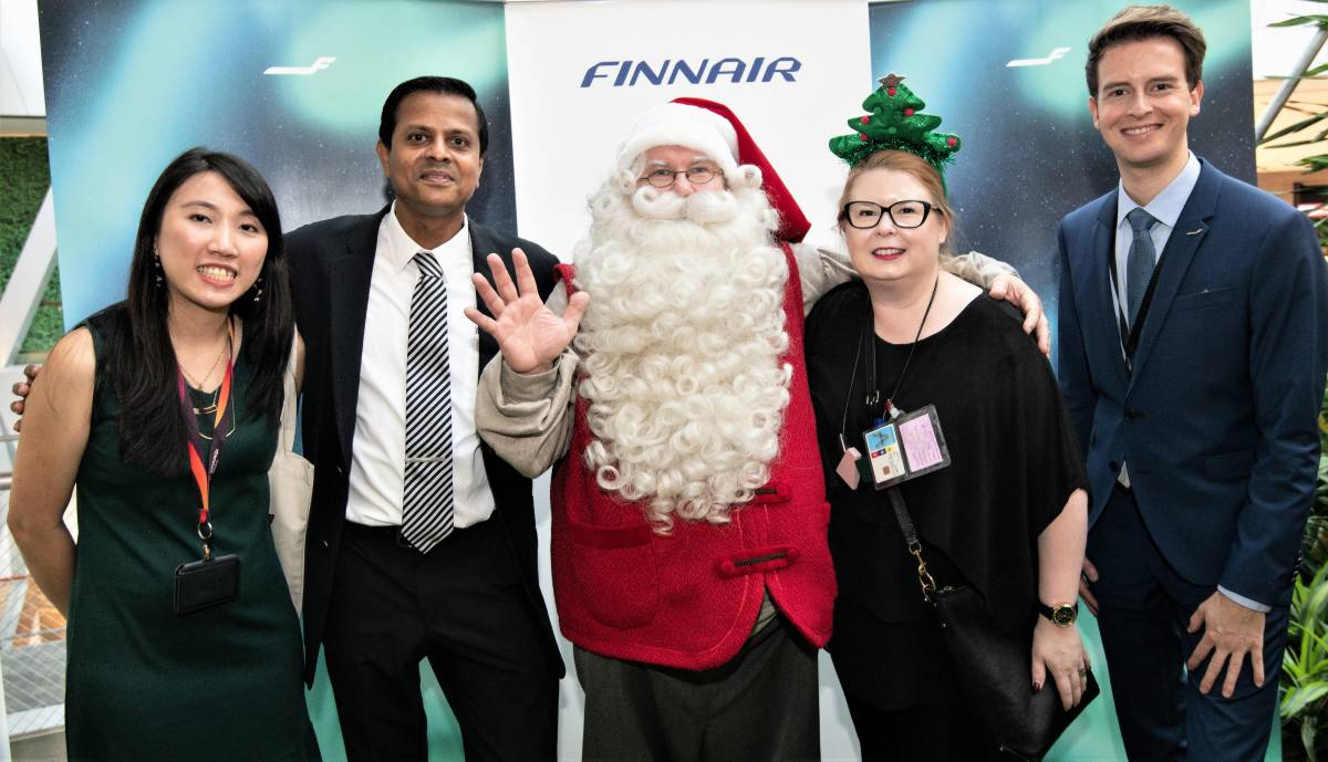 Finnair Flies Santa to Singapore