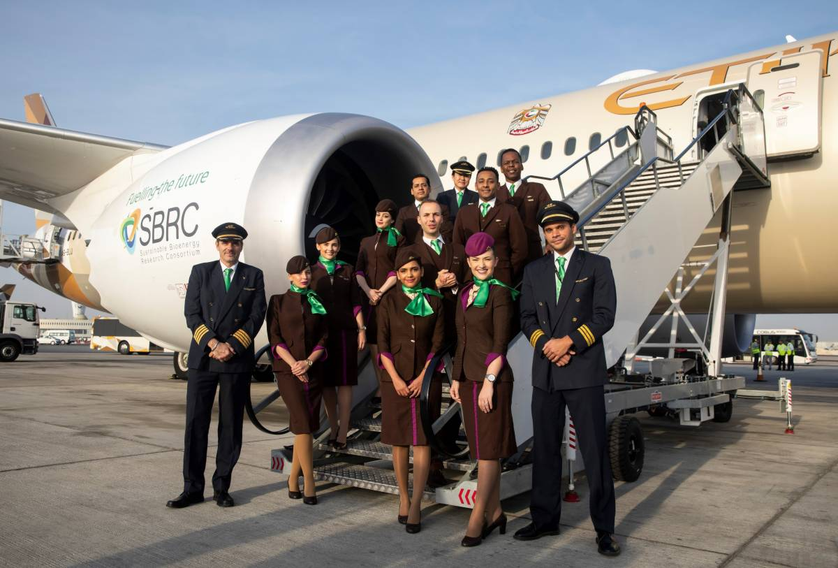 ETIHAD AIRWAYS FLIES THE WORLD'S FIRST FLIGHT USING FUEL MADE IN THE UAE FROM PLANTS GROWN IN SALTWATER
