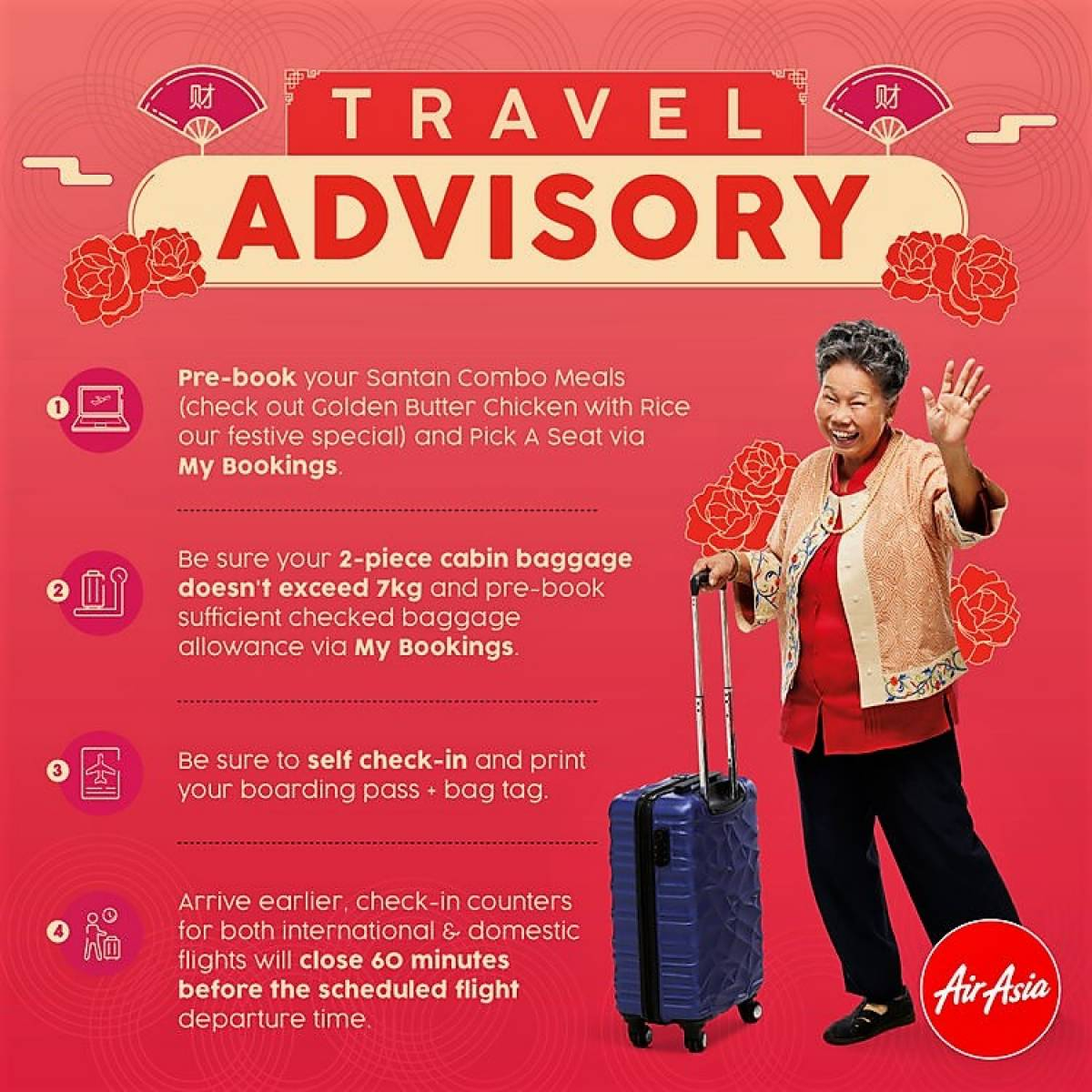 AirAsia Travel Tips for Chinese New Year Holidays - Get There Early!