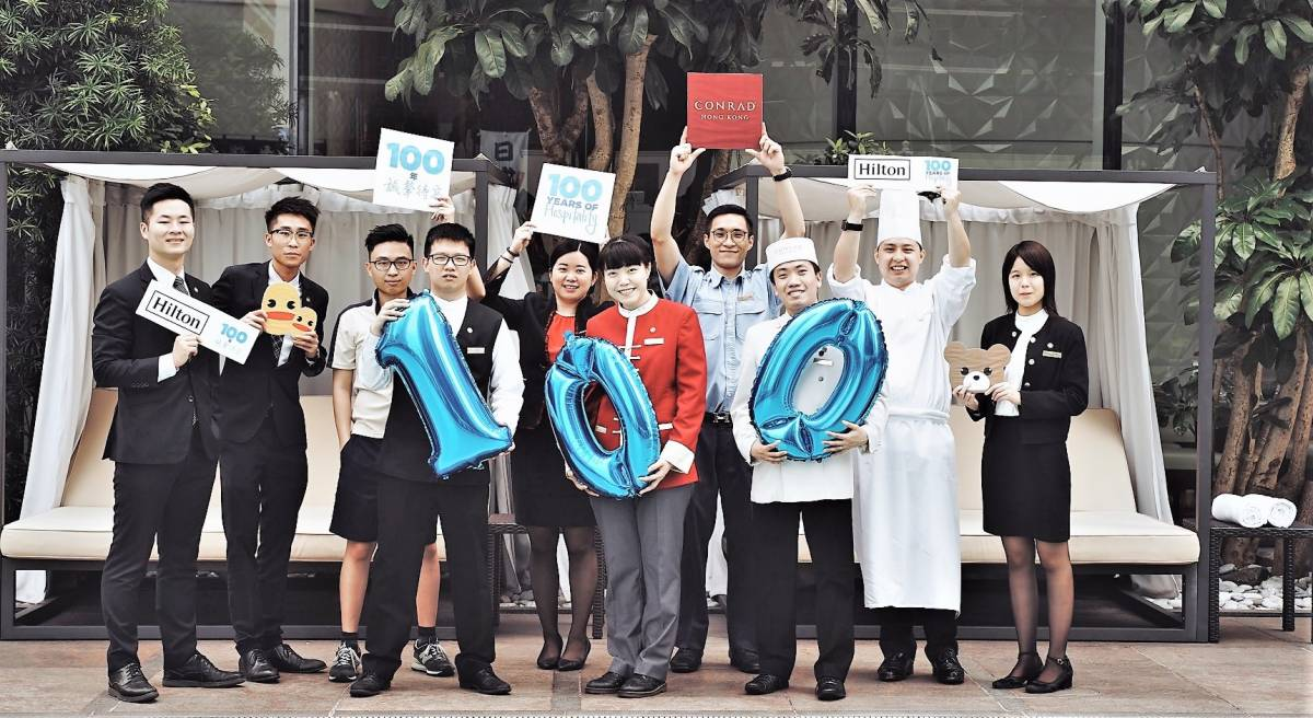 CONRAD HONG KONG CELEBRATES 100TH ANNIVERSARY OF HILTON