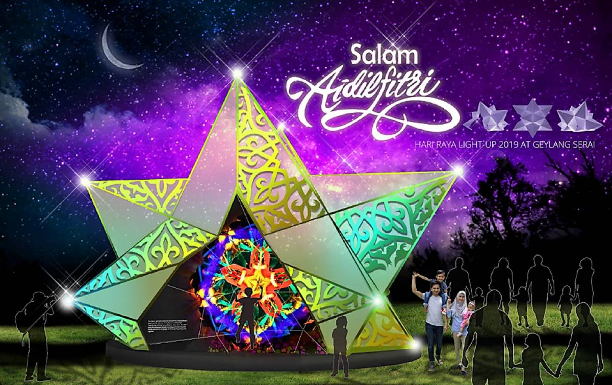 GEYLANG SERAI DAZZLES WITH CLOSE TO 50 LIGHT INSTALLATIONS CELEBRATING HARI RAYA LIGHT UP 2019