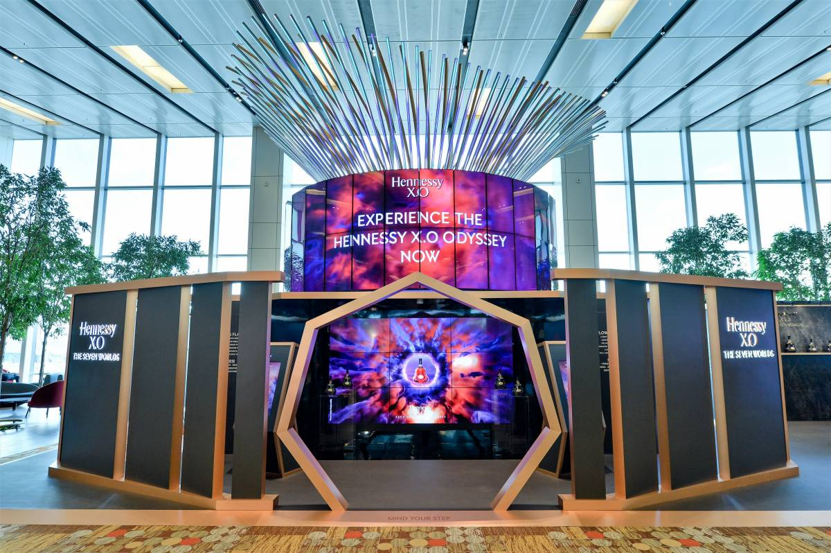 HENNESSY PARTNERS WITH DFS GROUP AND CHANGI AIRPORT GROUP TO UNVEIL FIRST OF ITS KIND POP-UP AT SINGAPORE'S CHANGI AIRPORT AS IT CONTINUES MOMENTUM FOR X.O CAMPAIGN LAUNCH