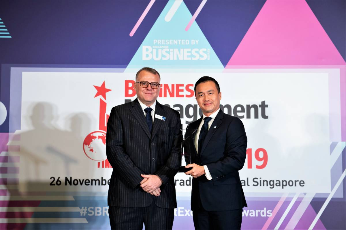 Nicholas Lim Named Executive of the Year for Travel Services at SBR Management Excellence Awards 2019