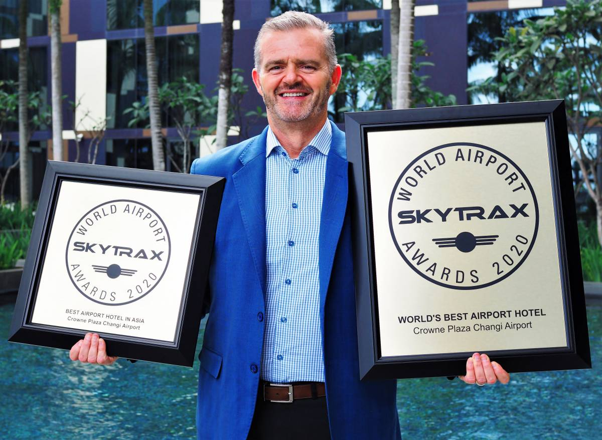 CROWNE PLAZA® CHANGI AIRPORT NAMED WORLD'S BEST AIRPORT HOTEL BY SKYTRAX FOR THE SIXTH CONSECUTIVE YEAR