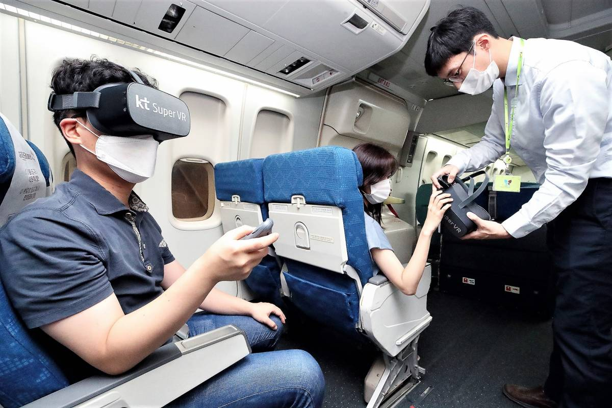 South Korea's KT to Develop In-Flight Virtual Reality Service