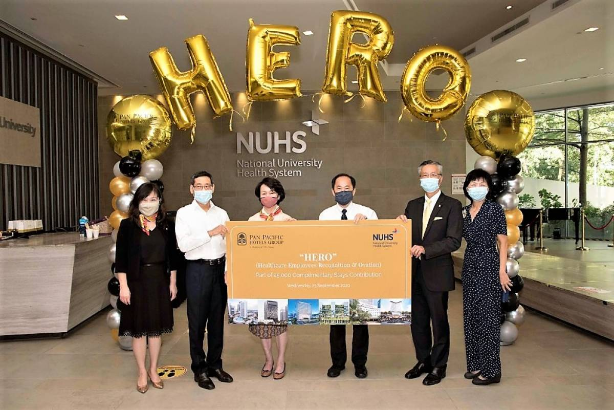 Pan Pacific Hotels Group Officially Presented 25,000 Complimentary Stay Vouchers to Healthcare Employees of Three Healthcare Groups