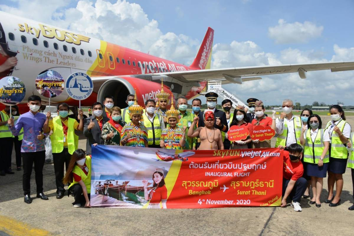 Vietjet commences Bangkok – Surat Thani Service