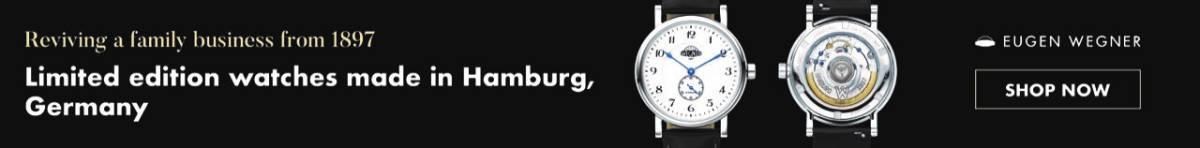 Eugen Wegner Watches Launch of Kickstarter Campaign