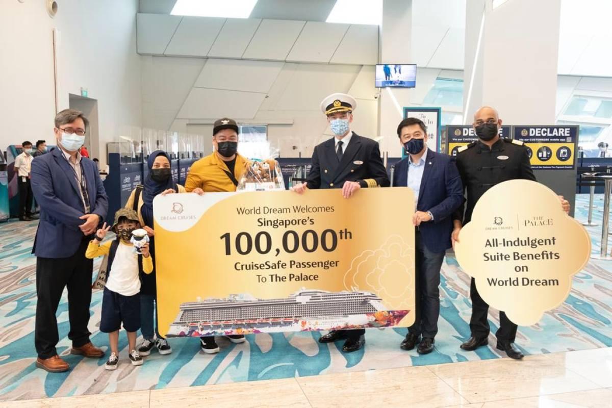 DREAM CRUISES WELCOMES 100,000TH PASSENGER SINCE BEGINNING OF CRUISE PILOT PROGRAM AT MARINA BAY CRUISE CENTRE SINGAPORE