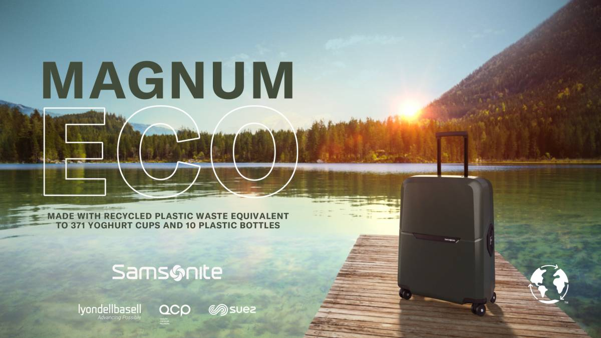 Samsonite Unveils Sustainable 'Magnum Eco' Luggage Collection