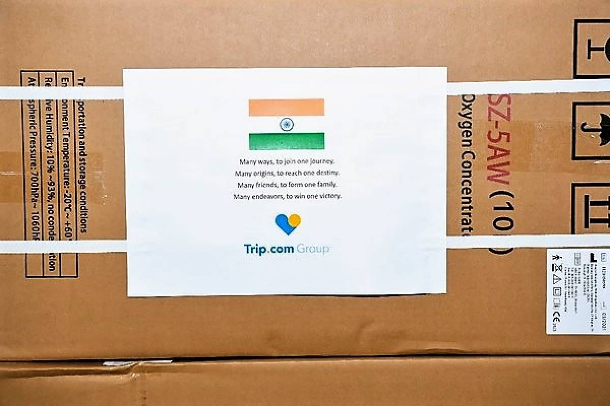 Trip.Com Group Donates 400 Oxygen Concentrators to India to Provide Support During COVID-19 Crisis