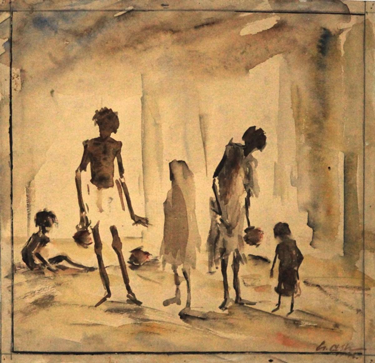 GAJAH GALLERY SINGAPORE EXHIBITS 21 IMPORTANT WATERCOLORS ON THE 1943 BENGAL FAMINE