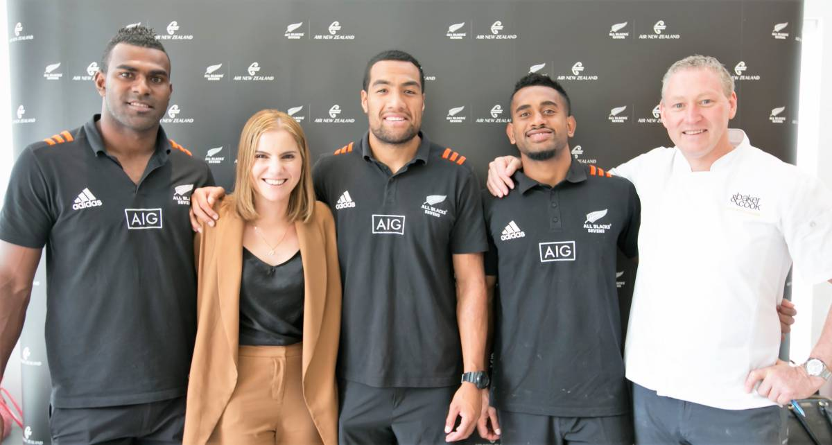 All Blacks Sevens put culinary skills to the test in Air New Zealand cook-off