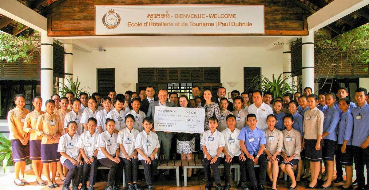 AccorHotels raises US$38,095 through Amazing Bike Ride from Siem Reap to Phnom Penh