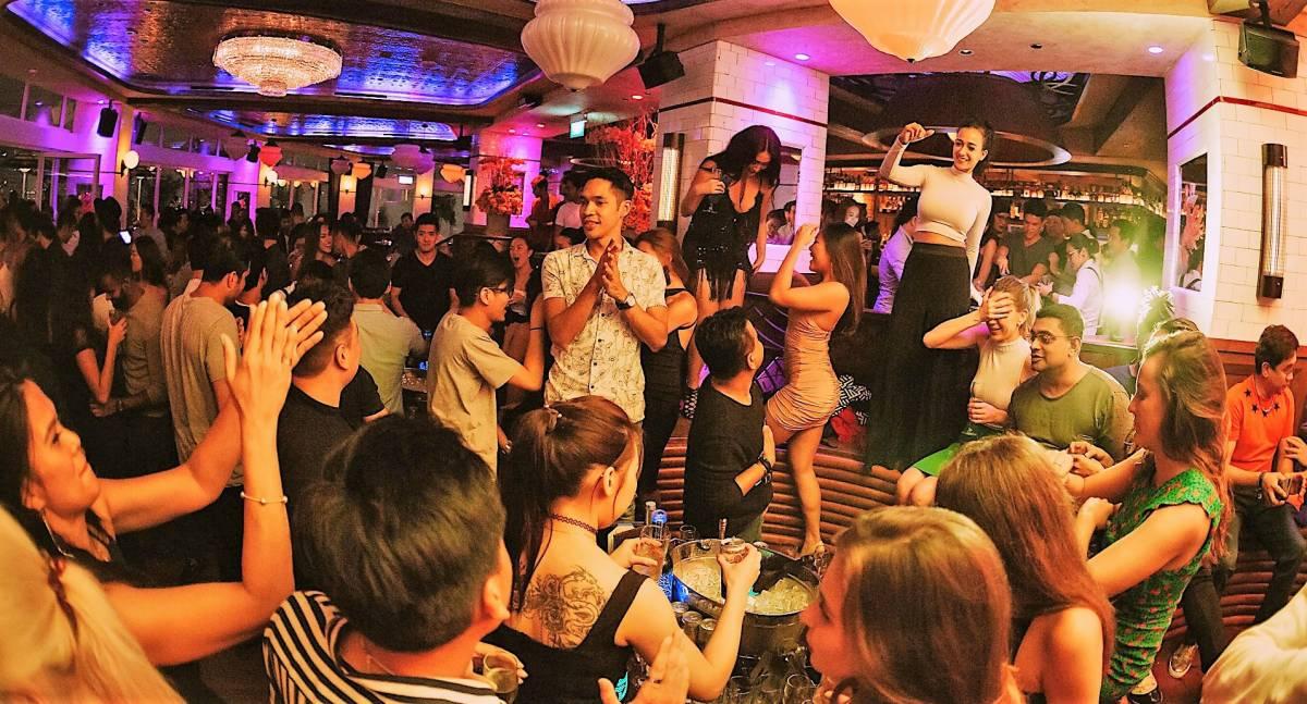 David Beckham attends Saturday Soiree at Singapore's LAVO Italian Restaurant & Rooftop Bar